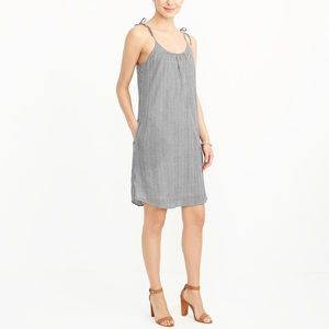 J. Crew Factory Gingham Tie-strap dress